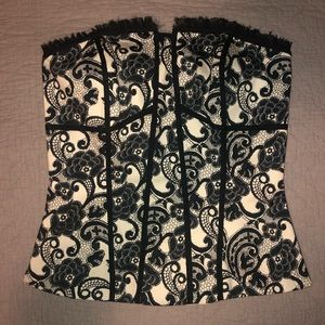 White House Black Market Floral corset